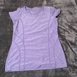 Lavender work out shirt